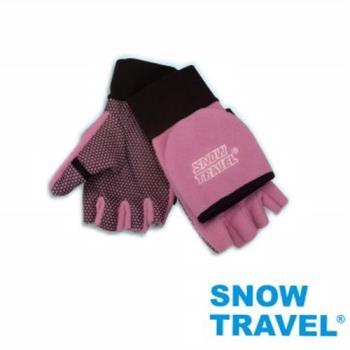 [SNOW TRAVEL]WINDBLOC防風保暖半指兩用手套/粉/M號AR-47