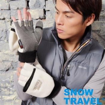 [SNOW TRAVEL]WINDBLOC防風保暖半指兩用手套/卡/L號AR-47