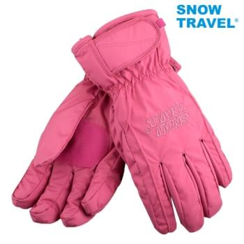 [SNOW TRAVEL]AR-ONE英國TPU防水套+白鵝羽絨700fill防水保暖滑雪手套/粉/M號/日本輕井澤2016年滑雪紀念版/攻頂/海釣