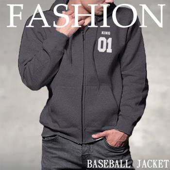 KISISDIAMOND 美式潮流刷毛連帽棒球外套(休閒/時尚/連帽/刷毛/保暖/5色L-3XL)