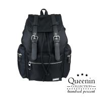 DF Queenin流行 - 多層拉鍊袋手提雙肩後背包