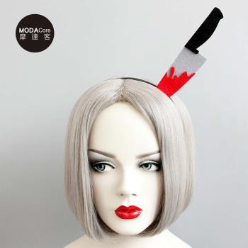 摩達客 萬聖派對頭飾-惡搞怪頭上一把刀創意造型髮箍