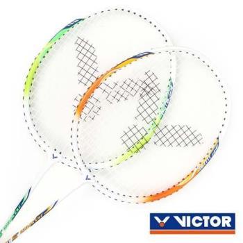 VICTOR 極速-穿線拍-對拍組-附羽毛球 附球袋 2入 羽毛球拍