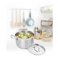 Cuisinart美膳雅 專業級不鏽鋼湯鍋6QT(5.7L/24cm) MCP44-24NTW