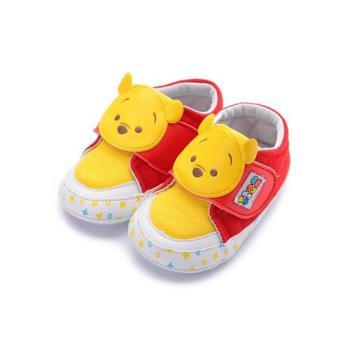 DISNEY Tsum Tsum 小熊維尼寶寶鞋 紅黃 中小童鞋 鞋全家福