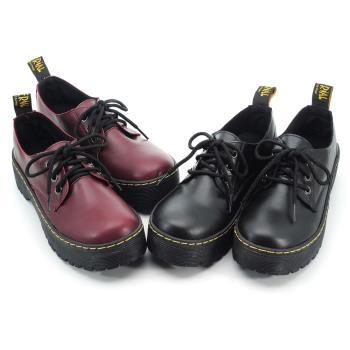 【cher美鞋】MIT 低筒個性縫線馬丁鞋-黑色/紅色-36-40碼 -0791021510-18