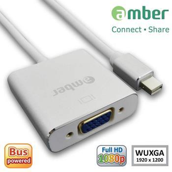 amber mini DisplayPort (Thunderbolt)轉 VGA 主動式訊號轉換線-鋁合金