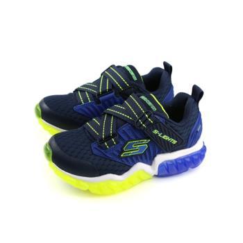 SKECHERS LIGHTS 運動鞋 電燈鞋 深藍色 中童 童鞋 90721LNVLM no863