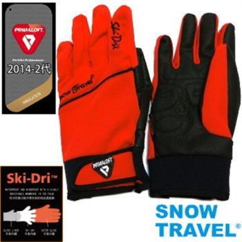[SNOW TRAVEL]軍用PRIMALOFT-GOLD+特戰SKI-DRI防水保暖合身型手套AR-67/紅色/日韓限量版