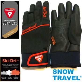 [SNOW TRAVEL]軍用PRIMALOFT-GOLD+特戰SKI-DRI防水保暖合身型手套AR-67/黑色/日韓限量版
