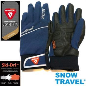 [SNOW TRAVEL]軍用PRIMALOFT-GOLD+特戰SKI-DRI防水保暖合身型手套AR-67/藍色/日韓限量版