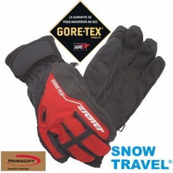 【SNOW TRAVEL】德國頂級GORE-TEX+PRIMALOFT防水防寒專業手套 /紅色/AR-62(他說第二,沒人敢說第一)