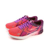 SKECHERS GO MEB RAZOR 運動鞋 跑鞋 輕量 競技 透氣 網布 女鞋 桃紅色 14119PRPK no627