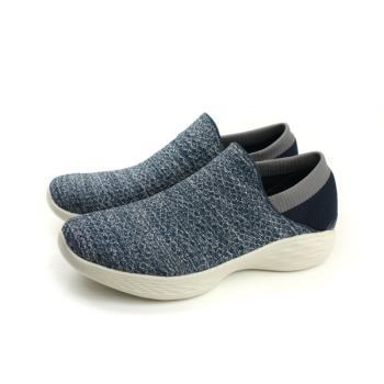 SKECHERS YOU 運動鞋 懶人鞋 女鞋 針織 深藍色 14951NVY no742
