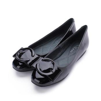 DBL 軟漆皮C釦平底鞋 紅 A0809-1 女鞋 鞋全家福