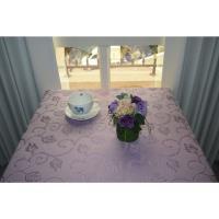 宜欣居傢飾 超防潑水防污緹花布桌巾/桌布 挪威森林(紫)