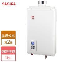 【櫻花】  16L 供排平衡智能恆溫熱水器(浴室、櫥櫃專用) - SH-1680