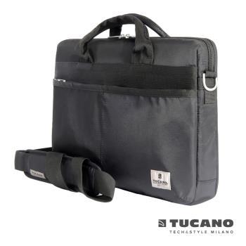 TUCANO Shine slim 15.6吋薄型輕便手提肩背二用電腦包-黑