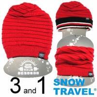 [SNOW TRAVEL]超保暖雙面圍脖三用帽/紅/AR-66/時尚多用