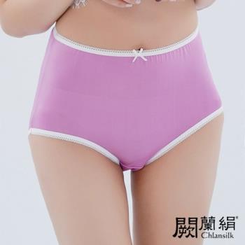 闕蘭絹 超高腰100%蠶絲內褲 紫色 (88903)