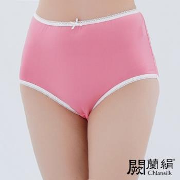 闕蘭絹 超高腰100%蠶絲內褲 粉色 (88903)