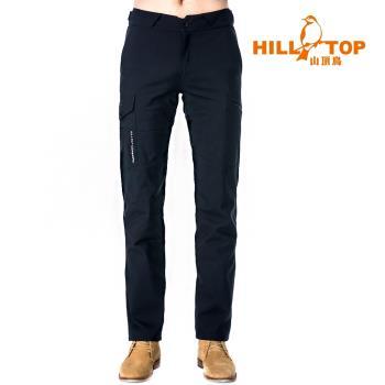 【hilltop山頂鳥】男款Windstopper抗風長褲H31ML3瑪瑙黑