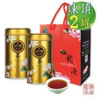 買1送1 龍源茶品 國寶限定版凍頂烏龍鵲茗茶罐組(150g/罐)-共2罐/300g/附提袋