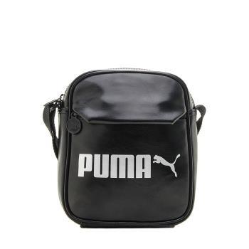 PUMA CAMPUS小側背包 大LOGO iSport愛運動全新正品 07500401 黑色