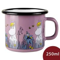 Muurla 嚕嚕米馬克杯 草原漫遊 藕紫 250ml