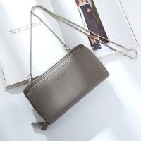 Acorn*橡果-韓版斜背包長夾手拿包晚宴包手機包8903(灰色)