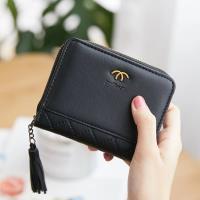 Acorn*橡果-韓版磨砂短夾手拿包卡包零錢包8608(黑色)