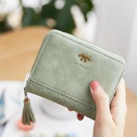 Acorn*橡果-韓版磨砂短夾手拿包卡包零錢包8608(綠色)