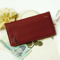 Acorn*橡果-韓版麂皮長夾手拿包手機包8605(酒紅)