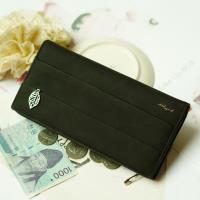 Acorn*橡果-韓版麂皮長夾手拿包手機包8605(黑色)