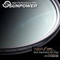 SUNPOWER TOP1 SMRC ND4-ND400 72mm 可調減光鏡(湧蓮公司貨)~台灣製~