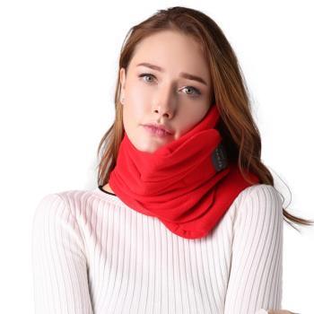 PUSH!旅遊用品超軟頸部支撐機上枕頭午睡頸枕飛行頭枕旅行枕頸椎枕紅色S57-1