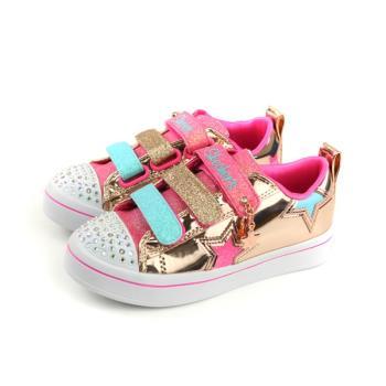 SKECHERS  Twinkle toes 運動鞋 休閒鞋 童鞋 金/粉色 亮片 10981LRSGD no892