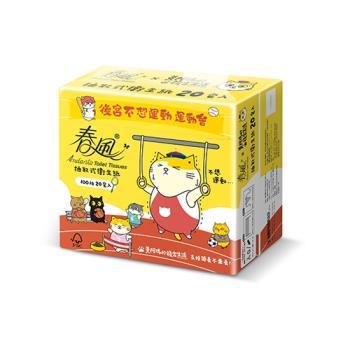春風抽取式衛生紙-黃阿瑪100抽x20包x3串