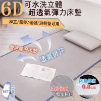 BELLE VIE 台灣製 6D恆溫可水洗超透氣彈力床墊 灰色特仕/和室墊/露營墊/瑜珈墊 (兒童款-60x120cm)