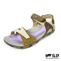 G.P 女款簡約休閒織帶涼鞋G7685W-橄欖綠色(SIZE:36-39 共二色)