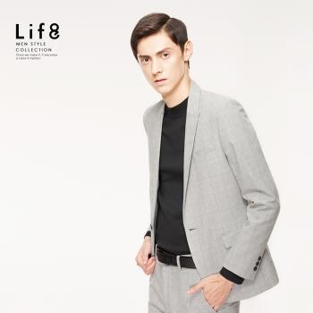 Life8-Formal 密織千鳥變化紋 修身西裝外套-11174