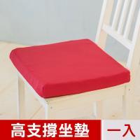 凱蕾絲帝-台灣製造-久坐專用二合一高支撐記憶聚合紓壓坐墊-棗紅(一入)