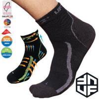 [UF72+]台灣MIT/除臭全功能壓力運動襪/黑灰(20~24) UF-900-1(三雙組) /路跑/球類運動/自行車/久站工作/釋放腳壓力