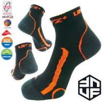 [UF72+]台灣MIT/除臭全功能壓力運動襪/黑螢橘(25-28) UF-900-3(三雙組) /路跑/球類運動/自行車/久站工作/釋放腳壓力