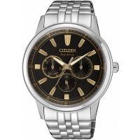 CITIZEN星辰 光動能 展現自我三眼手錶(黑/43mm) BU2071-87E