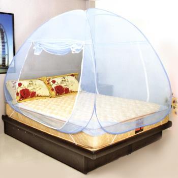 Lassley蕾絲妮-彈開式蒙古包蚊帳-單人床雙門