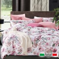 Raphael拉斐爾 嫣紅 純棉加大四件式床包被套組