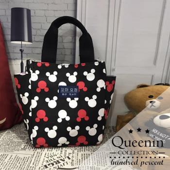 DF Queenin日韓 - 韓版系列帆布手提便當媽咪小方包-共6色