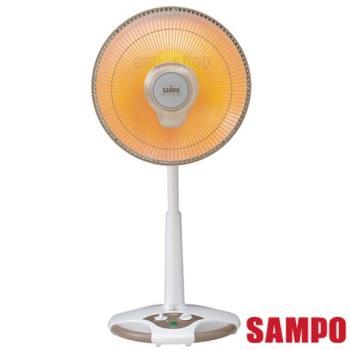 【聲寶SAMPO】14吋風扇型鹵素電暖器 HX-FD14F