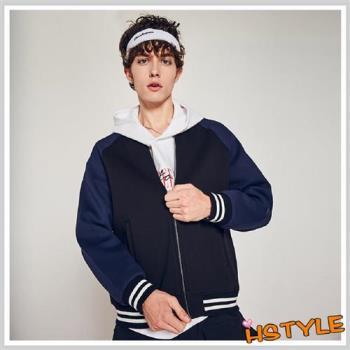 外套 男裝拼色條紋棒球夾克外套NX8127-創翊韓都